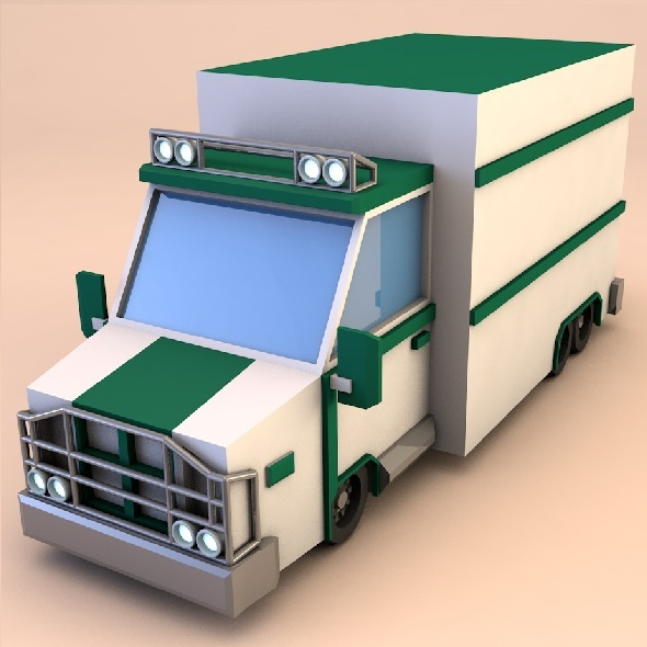 3DOcean Low poly truck 9335572