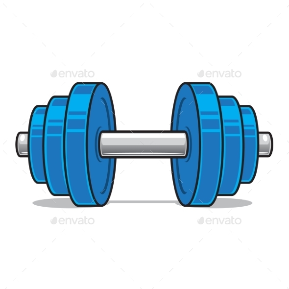 GraphicRiver Fitness workout Dumbbell 9335608