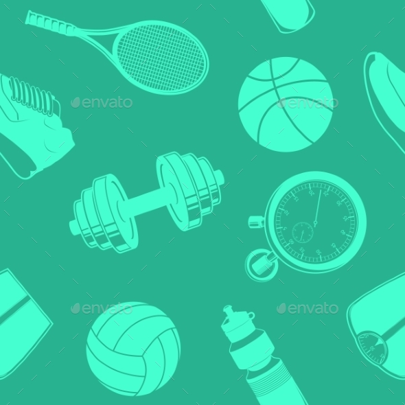 GraphicRiver Sport Seamless Pattern 9335614