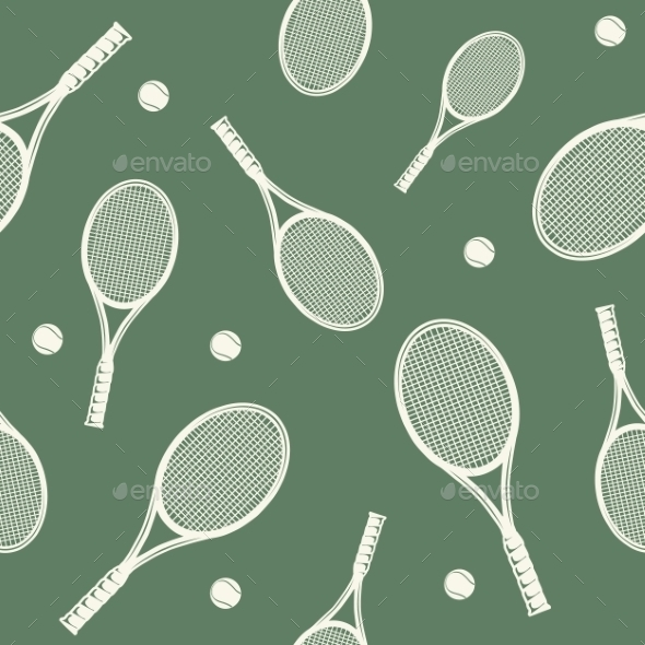 GraphicRiver Tennis Rackets Seamless Pattern 9335622