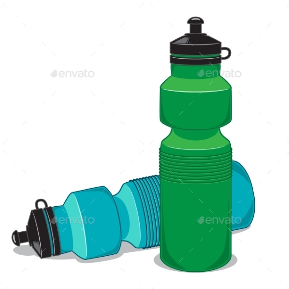 GraphicRiver Sportsman Water Bottle Isolated on White 9335625
