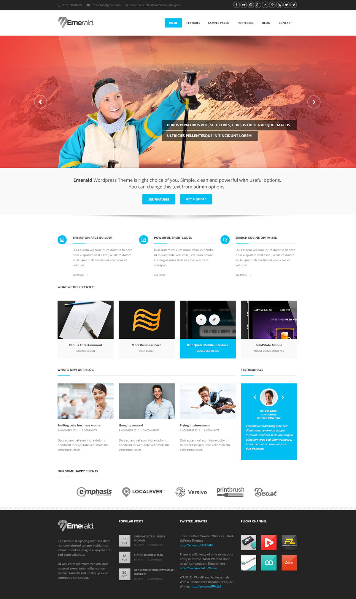 Emerald - Modern and Elegant theme for Corporate