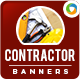 Contractor Banners - GraphicRiver Item for Sale