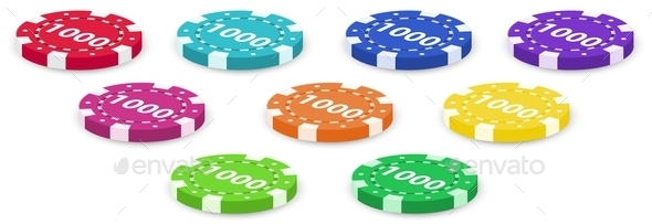 GraphicRiver Nine Poker Chips 9335691