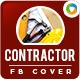 Contractor FB Cover Image - GraphicRiver Item for Sale