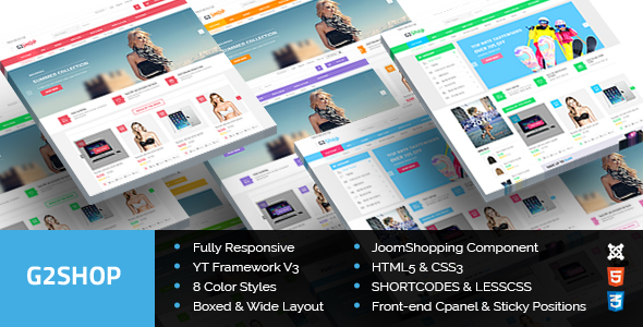 ThemeForest G2Shop Responsive Ecommerce Joomla Template 9152991