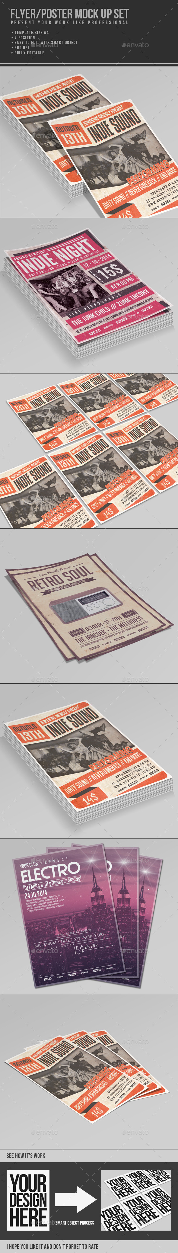 GraphicRiver Multipurpose Flyer Poster Mock Up 9335759