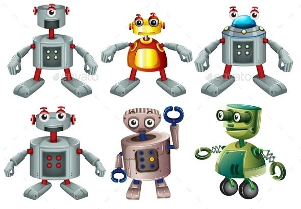 GraphicRiver Six Robots 9335791