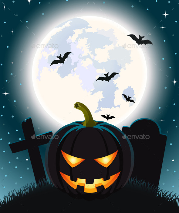 GraphicRiver Halloween Background Vector Illustration 9319678