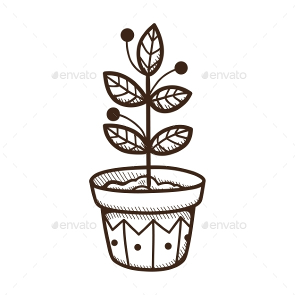 GraphicRiver Plant Growing in a Pot 9335798