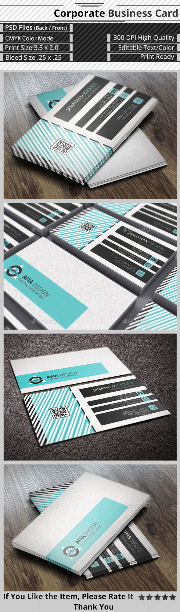 GraphicRiver Smart & Creative Corporate Business Card 9255026