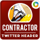 Contractor Twitter Header - GraphicRiver Item for Sale