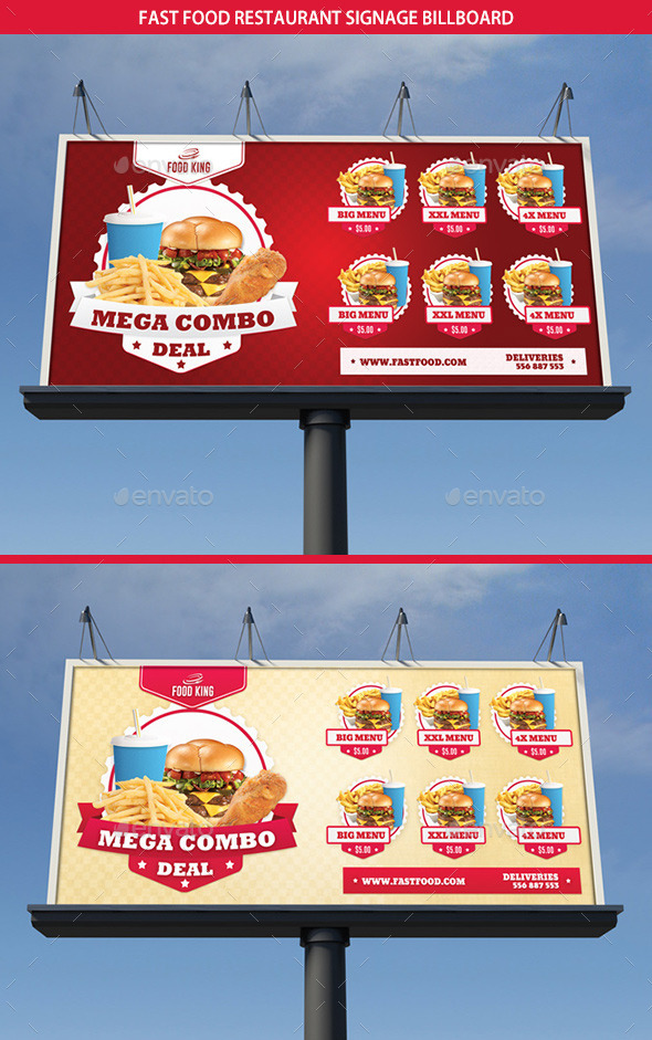 GraphicRiver Restaurant Fast Food Signage Billboard 9335812