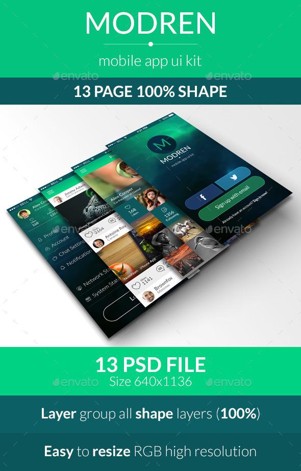 Modren Mobile App UI Kit
