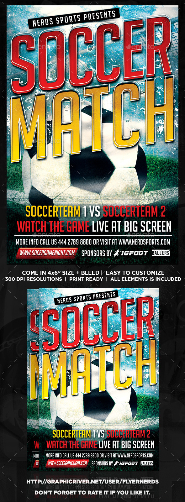 GraphicRiver Kick Off Soccer Flyer 9335904
