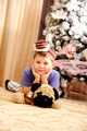 Boy portrait outside with christmas trees - PhotoDune Item for Sale