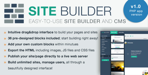 CodeCanyon SiteBuilder Lite Drag&Drop site builder and CMS 9335954
