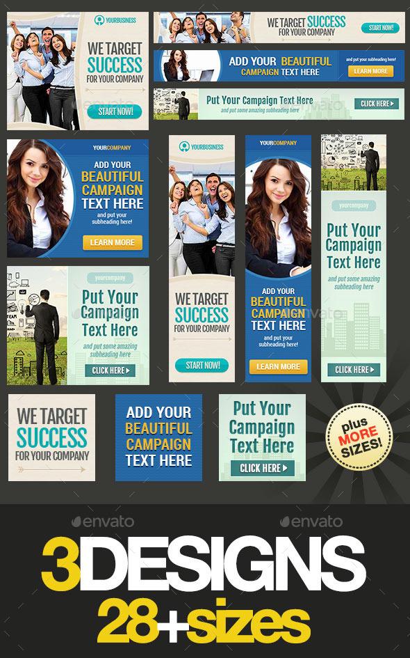 GraphicRiver Corporate Web Banner Set Bundle 13 9336001