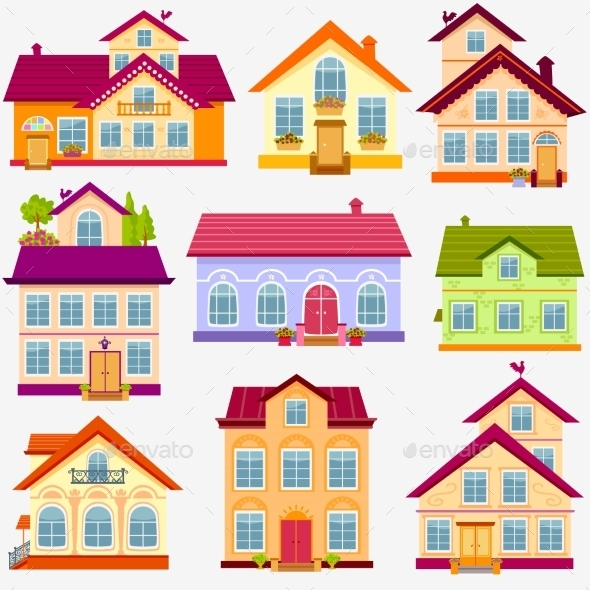 GraphicRiver Houses Set 9336026