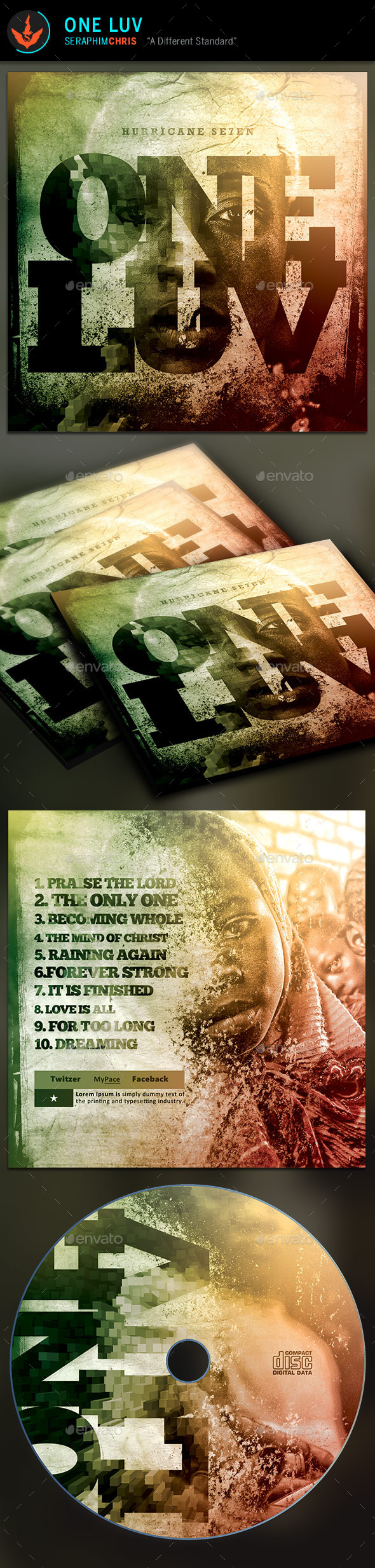 GraphicRiver One Love CD Artwork Template 9336060