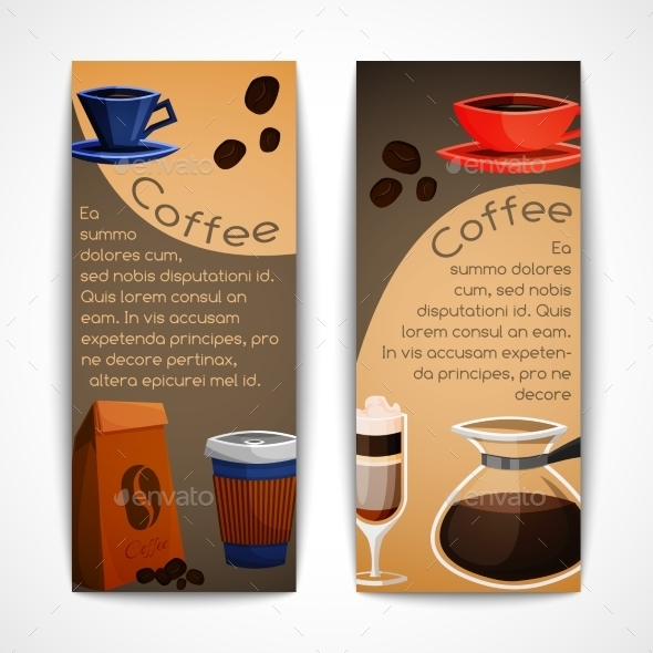 GraphicRiver Coffee Banners Set 9336247