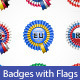 Badges with Flags - GraphicRiver Item for Sale