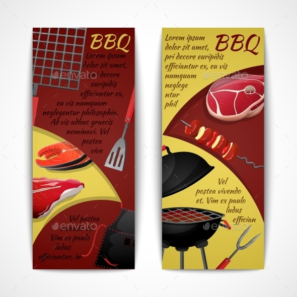 GraphicRiver BBQ Banners Set 9336281