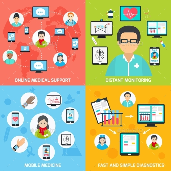 GraphicRiver Mobile Health Icons Set 9336398