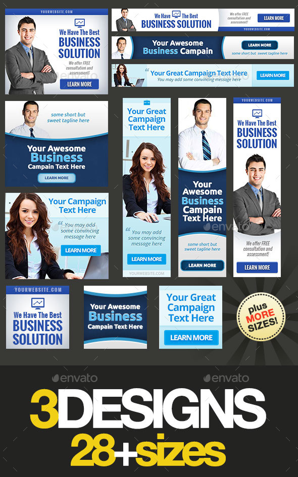 GraphicRiver Corporate Web Banner Set Bundle 14 9336402