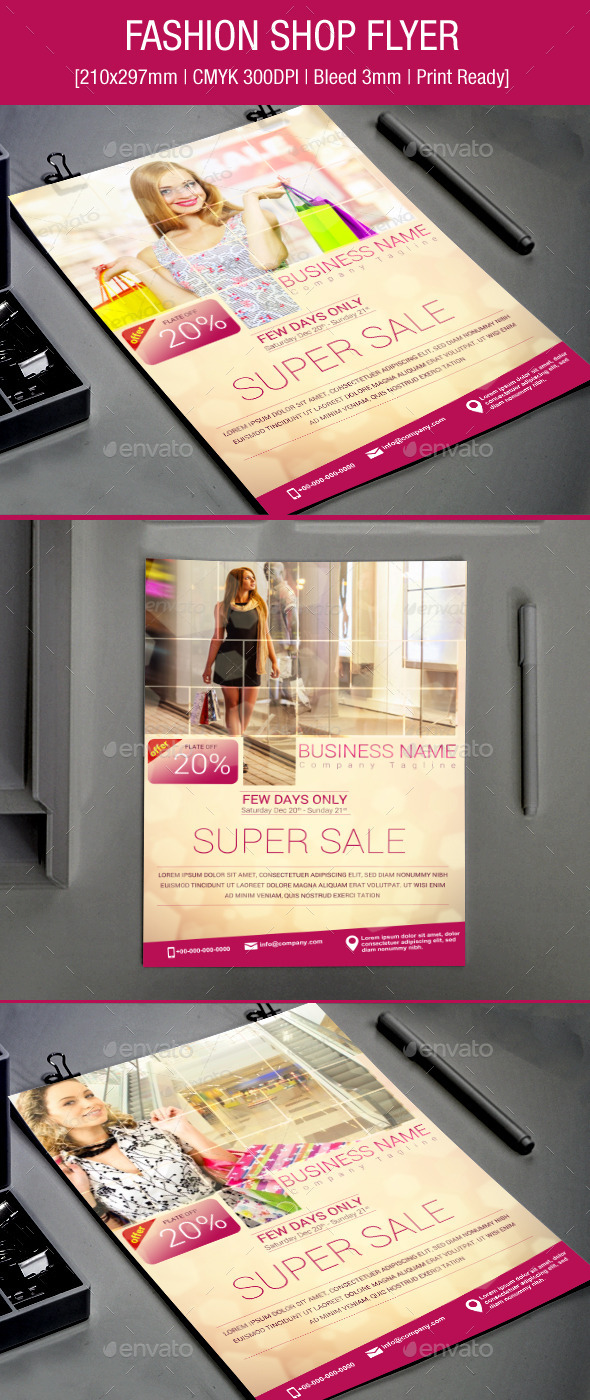 GraphicRiver Fashion Shop Flyer 9336406