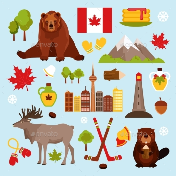 GraphicRiver Canada Decorative Set 9336472