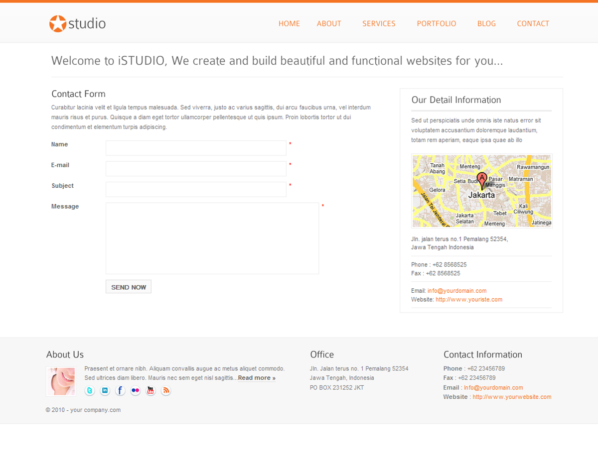 istudio - Clean and Minimalist Business Template - contact page