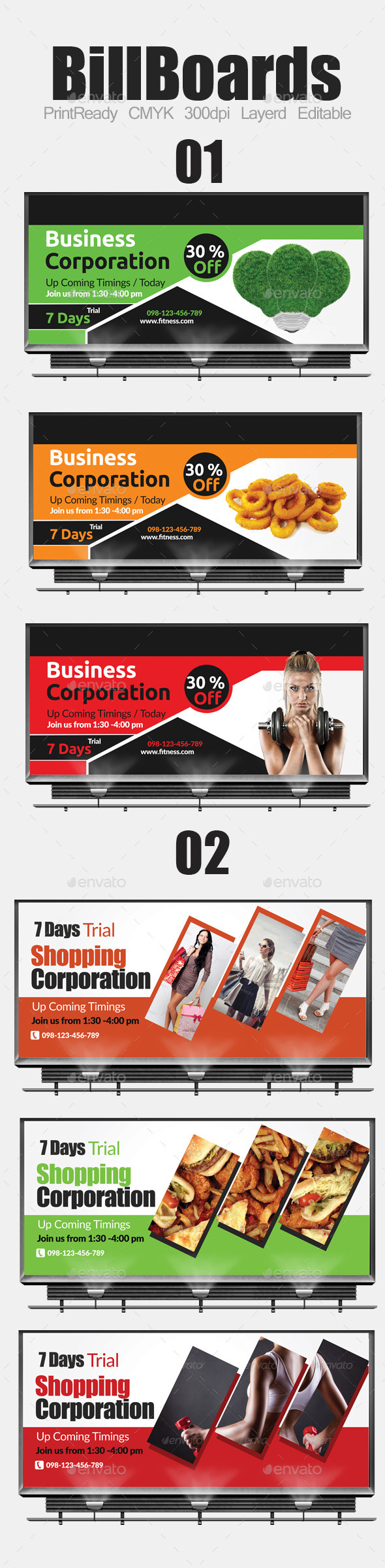 GraphicRiver Multi Purpose Business Billboard Bundle 9336577