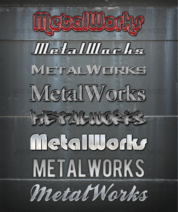 GraphicRiver MetalWorks vol I 119868