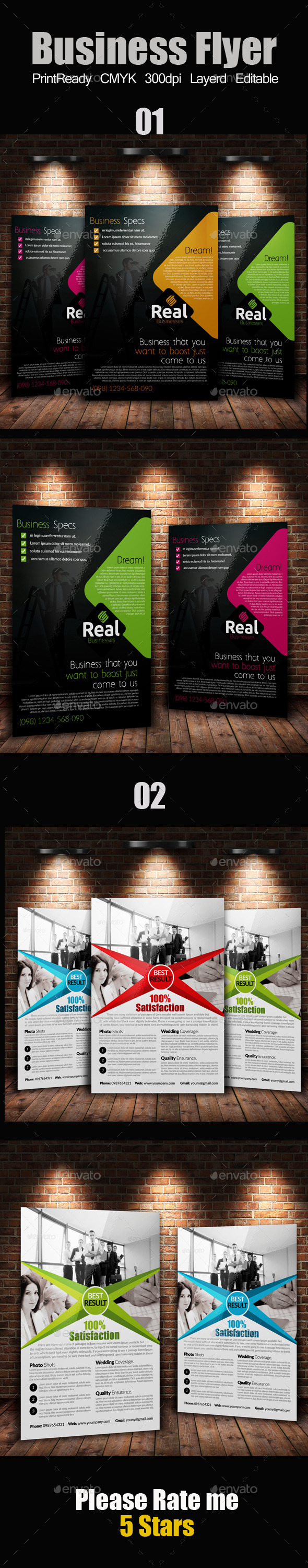 GraphicRiver A4 Business Flyer Bundle 9336659