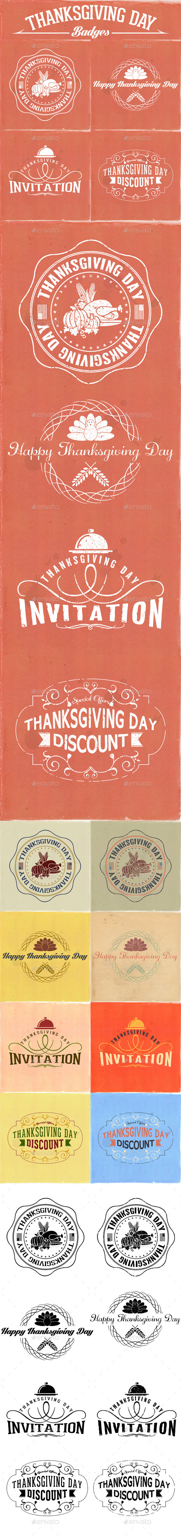 GraphicRiver Thanksgiving Day Badges 9336664