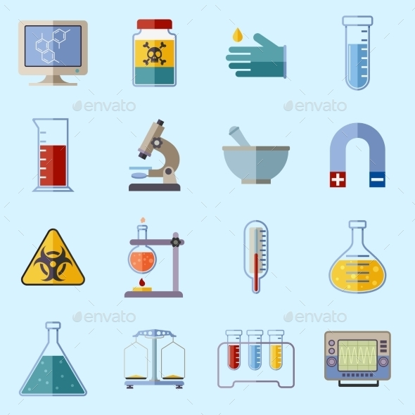 GraphicRiver Laboratory Equipment Icons 9336696