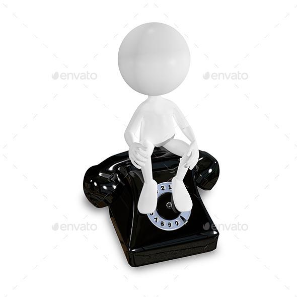 White Man on a Black Telephone