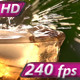 Stream of Champagne in a Glass with Ice - VideoHive Item for Sale