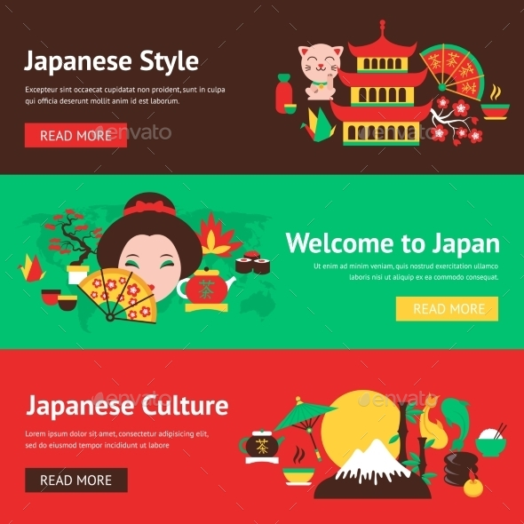 GraphicRiver Japan Banner Set 9337003