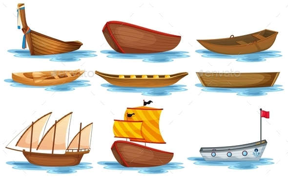 GraphicRiver Boat Set 9337007