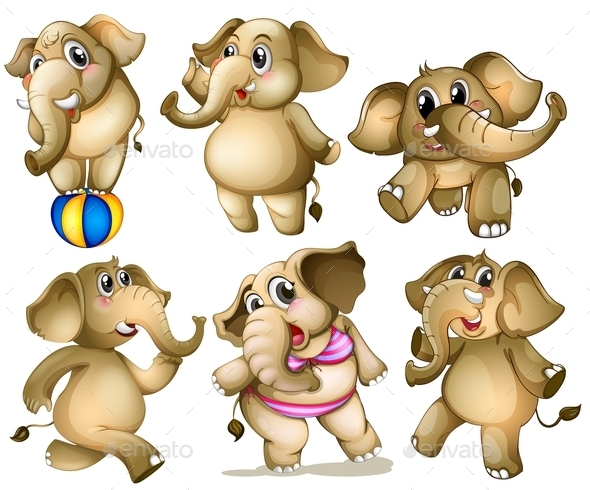 GraphicRiver Elephant Set 9337062