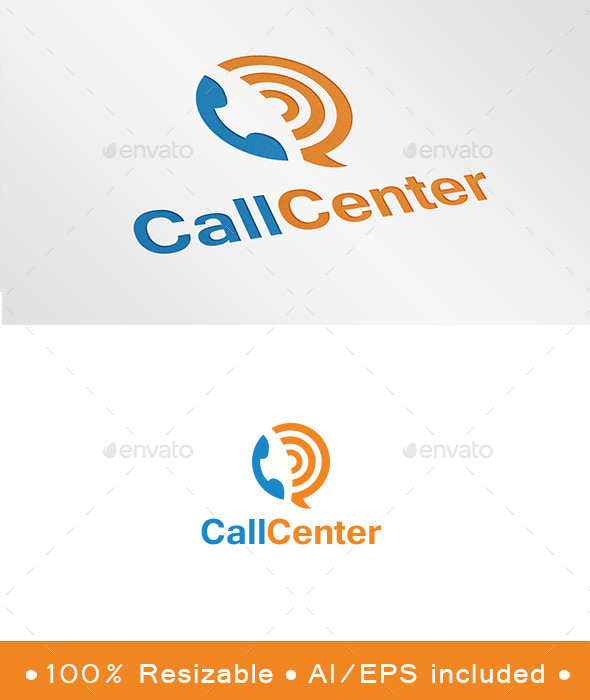 GraphicRiver Call Center Logo 9337291