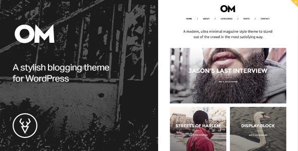 OM - A stylish blogging theme for WordPress - Blog / Magazine WordPress