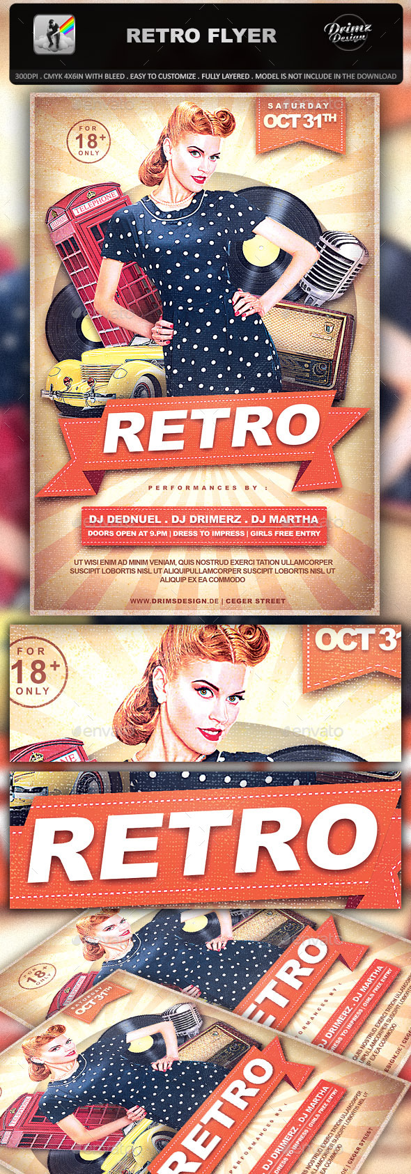 GraphicRiver Retro Flyer 9337557