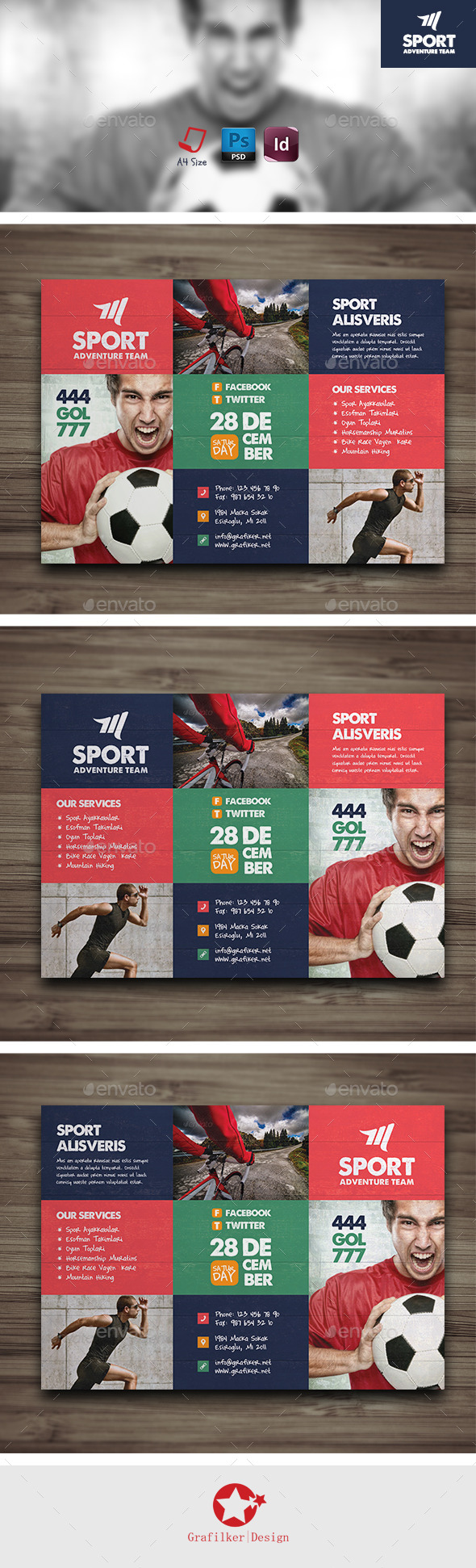 GraphicRiver Sport Flyer Templates 9337804
