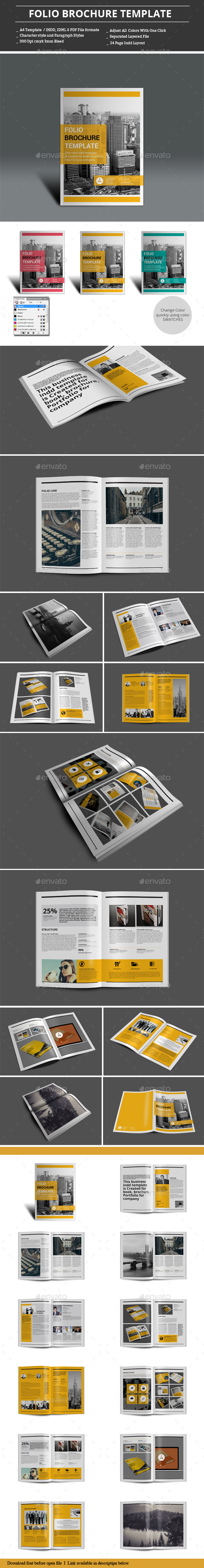 GraphicRiver Folio Brochure Templates 9337923