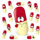 Pill Cartoon with Many Expressions  - GraphicRiver Item for Sale