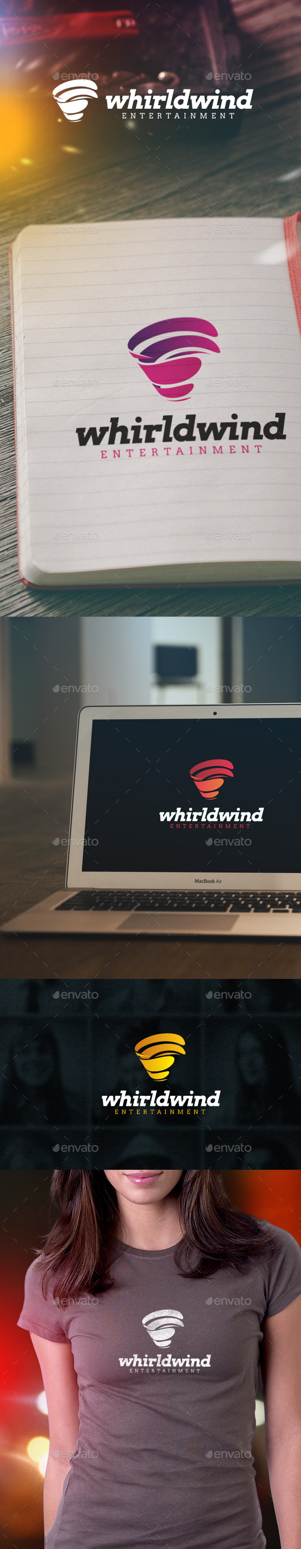 GraphicRiver Whirlwind Entertainment Logo 9338174
