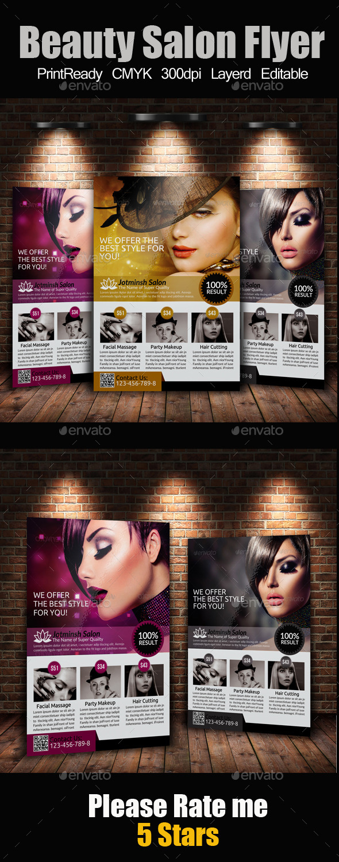 GraphicRiver A4 Beauty Salon Flyer 9338386